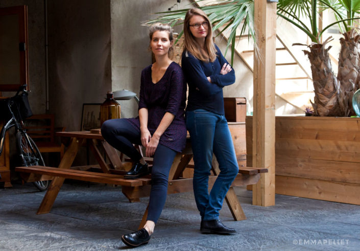 Portrait-photo-de-Sarah-Ligerot-et-Angela-Madrid-Espace-La-fourmilliere-Bouguenais-Nantes-photo-©-Emma-Pellet