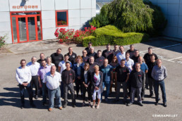 photo de groupe entreprise Roforge st Chamond